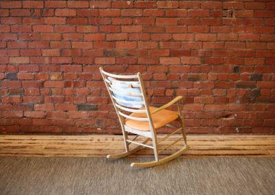 MODERNIST oak rocking chair
